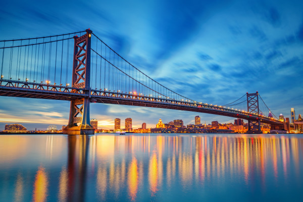 Ben Franklin Bridge in Philadelphia - Philly Tech scene on the rise