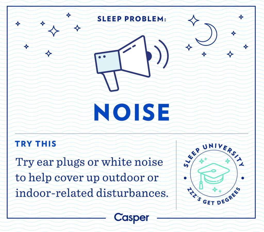 sleep problems - noise