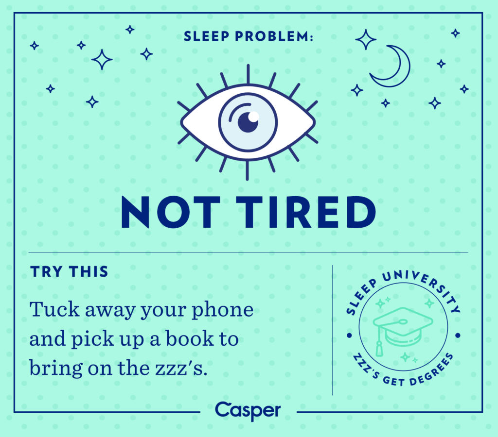 sleep problems - not tired
