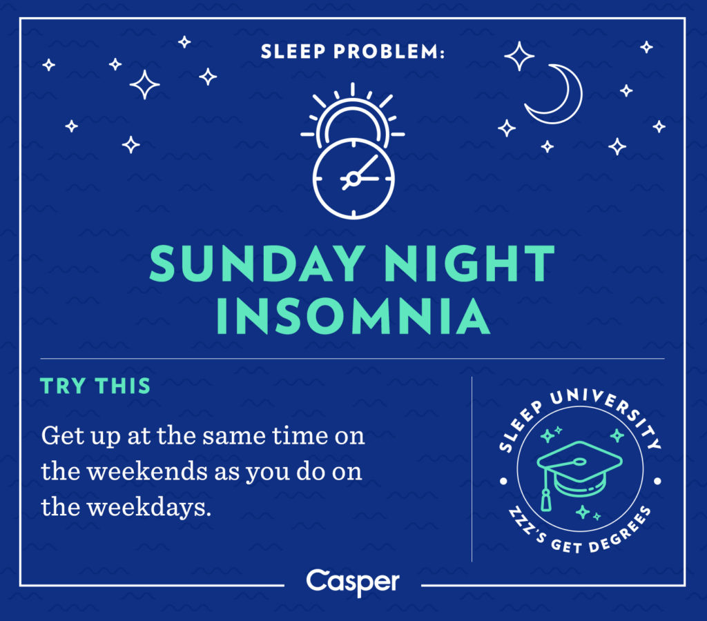 Sunday night insomnia