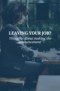 resigning professionally